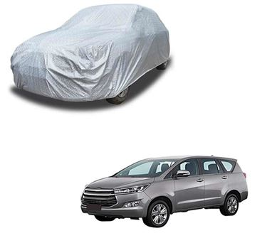 Picture of Glaze Waterproof Heat Resistant Car Body Cover Compatible With Toyota Innova Crysta - Glaze Silver