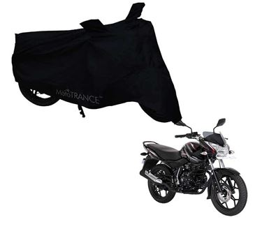 Picture of Black Two Wheeler Cover For Bajaj Discover