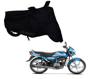 Picture of Black Two Wheeler Cover For Hero HF Deluxe