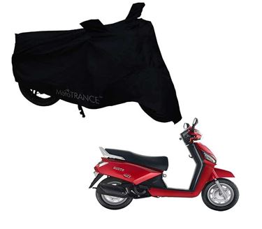 Picture of Black Two Wheeler Cover For Mahindra Gusto
