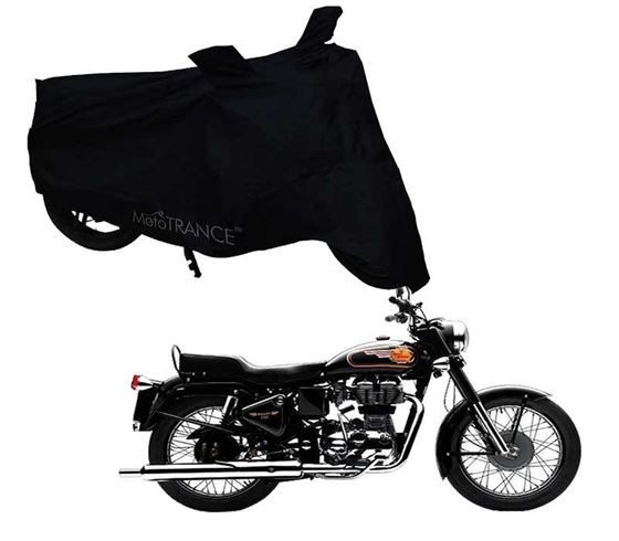 Picture of Black Two Wheeler Cover For Royal Enfield Bullet 350 Twinspark
