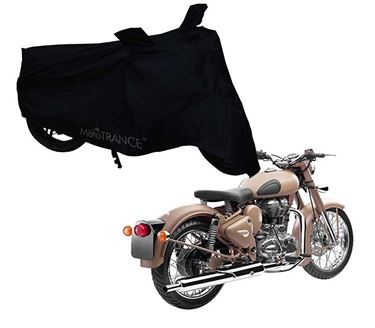 Picture of Black Two Wheeler Cover For Royal Enfield Classic Desert Storm