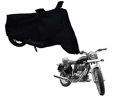 Picture of Black Two Wheeler Cover For Royal Enfield Electra