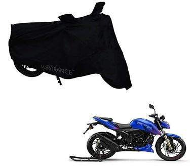 Picture of Black Two Wheeler Cover For TVS Apache RTR 200 4V