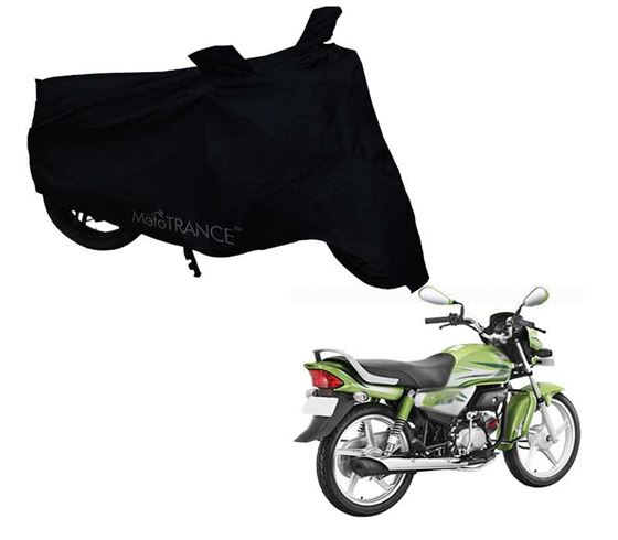 Picture of Black Two Wheeler Cover For Hero HF Deluxe Eco