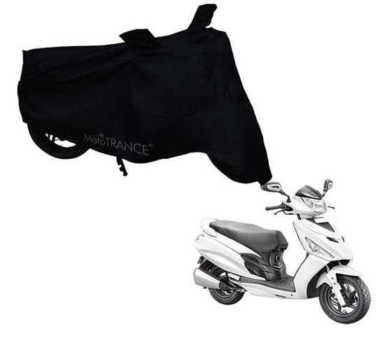 Picture of Black Two Wheeler Cover For Hero Maestro Edge