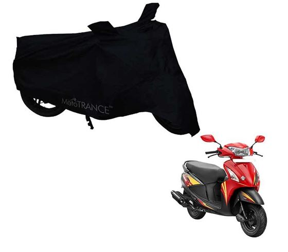Picture of Black Two Wheeler Cover For Hero Pleasure