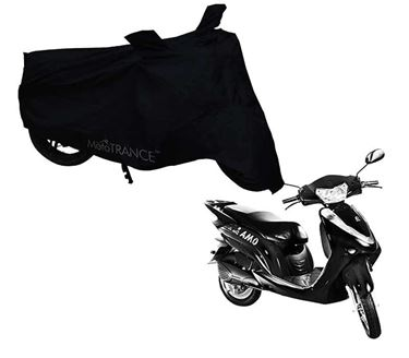 Picture of Black Two Wheeler Cover For Lohia Omastar