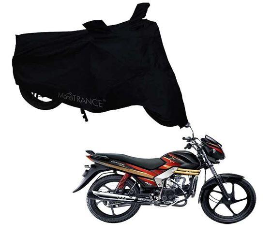 Picture of Black Two Wheeler Cover For Mahindra Centuro Rockstar