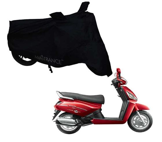Picture of Black Two Wheeler Cover For Mahindra Gusto 125