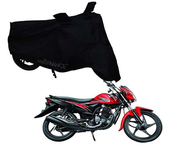 Picture of Black Two Wheeler Cover For Suzuki Hayate EP