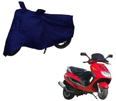 Picture of Blue Two Wheeler Cover For Kinetic Blaze