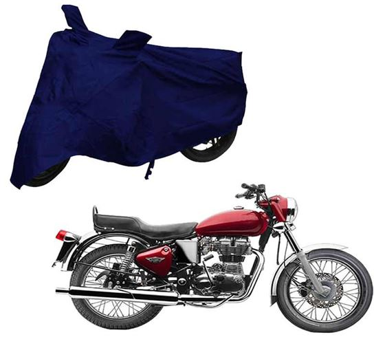 Picture of Blue Two Wheeler Cover For Royal Enfield Bullet Electra Twinspark