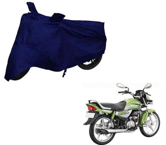Picture of Blue Two Wheeler Cover For Hero HF Deluxe Eco