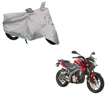 Picture of Silver Two Wheeler Cover For Bajaj Pulsar 150NS