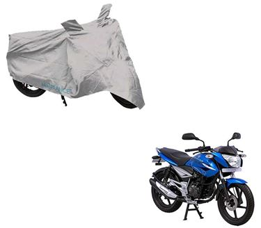 Picture of Silver Two Wheeler Cover For Bajaj XCD 125
