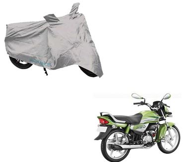 Picture of Silver Two Wheeler Cover For Hero HF Deluxe Eco