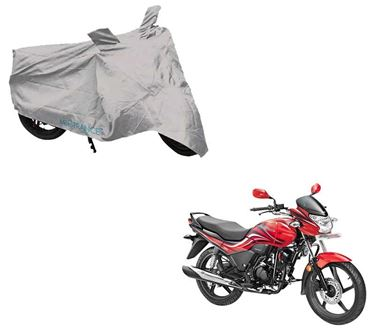 Picture of Silver Two Wheeler Cover For Hero Passion X Pro