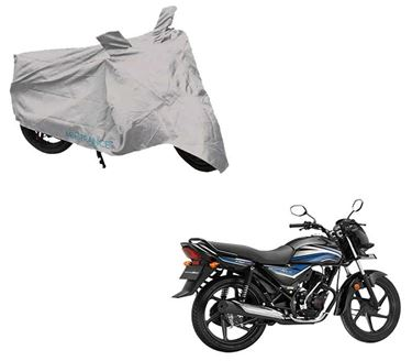 Picture of Silver Two Wheeler Cover For Honda Dream Neo