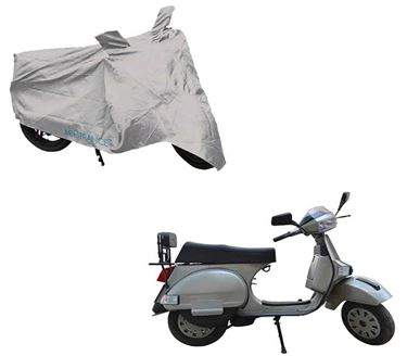 Picture of Silver Two Wheeler Cover For LML Select