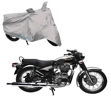 Picture of Silver Two Wheeler Cover For Royal Enfield Electra 4S