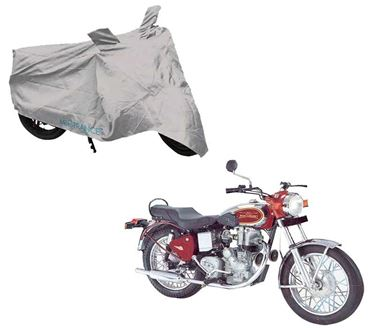 Picture of Silver Two Wheeler Cover For Royal Enfield Machismo 350