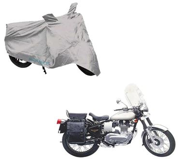 Picture of Silver Two Wheeler Cover For Royal Enfield Machismo 500