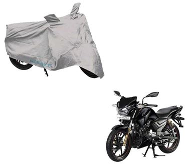 Picture of Silver Two Wheeler Cover For TVS Apache RTR 180