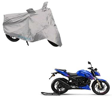 Picture of Silver Two Wheeler Cover For TVS Apache RTR 200 4V