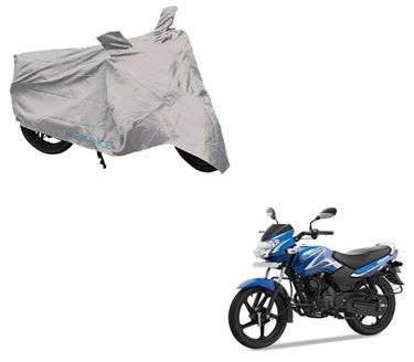 Picture of Silver Two Wheeler Cover For TVS Sport