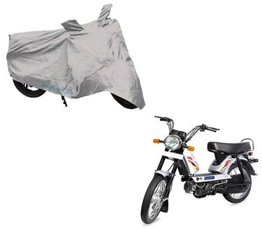 Picture of Silver Two Wheeler Cover For TVS XL Super