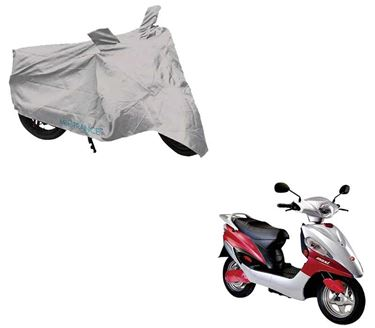 Picture of Silver Two Wheeler Cover For Hero Electric Maxi