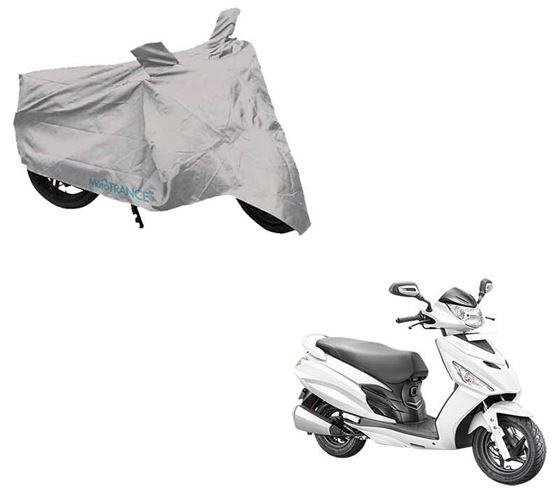 Picture of Silver Two Wheeler Cover For Hero Maestro Edge