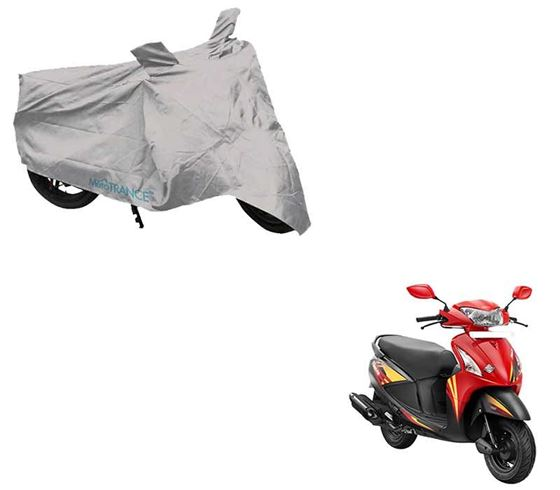 Picture of Silver Two Wheeler Cover For Hero Pleasure