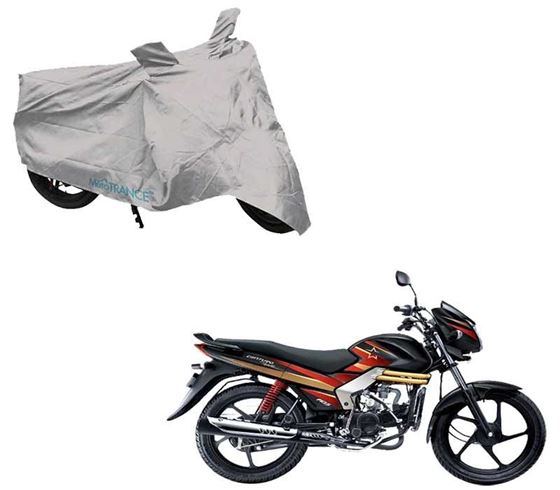 Picture of Silver Two Wheeler Cover For Mahindra Centuro Rockstar