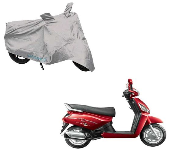 Picture of Silver Two Wheeler Cover For Mahindra Gusto 125