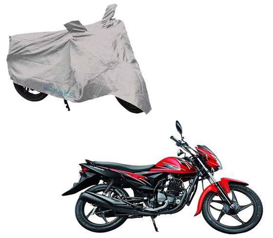 Picture of Silver Two Wheeler Cover For Suzuki Hayate EP