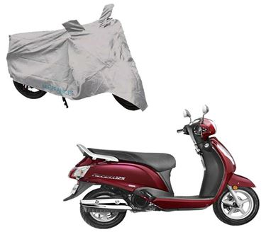 Picture of Silver Two Wheeler Cover For Suzuki New Access 125