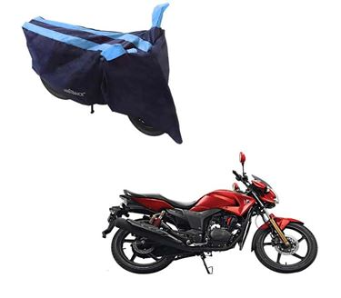 Picture of Sporty Arc Blue Aqua Two Wheeler Cover For Hero Hunk