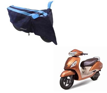 Picture of Sporty Arc Blue Aqua Two Wheeler Cover For TVS Jupiter