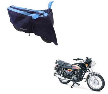 Picture of Sporty Arc Blue Aqua Two Wheeler Cover For TVS Max 4R