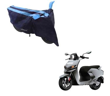 Picture of Sporty Arc Blue Aqua Two Wheeler Cover For 22Motors Flow