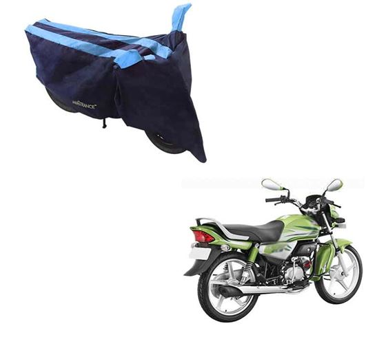Picture of Sporty Arc Blue Aqua Two Wheeler Cover For Hero HF Deluxe Eco