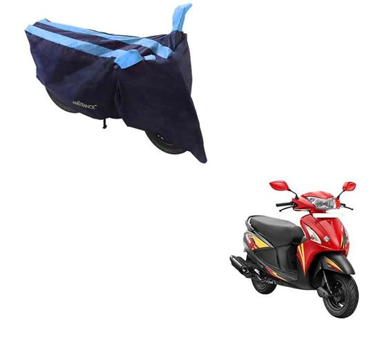 Picture of Sporty Arc Blue Aqua Two Wheeler Cover For Hero Pleasure