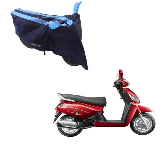 Picture of Sporty Arc Blue Aqua Two Wheeler Cover For Mahindra Gusto 125