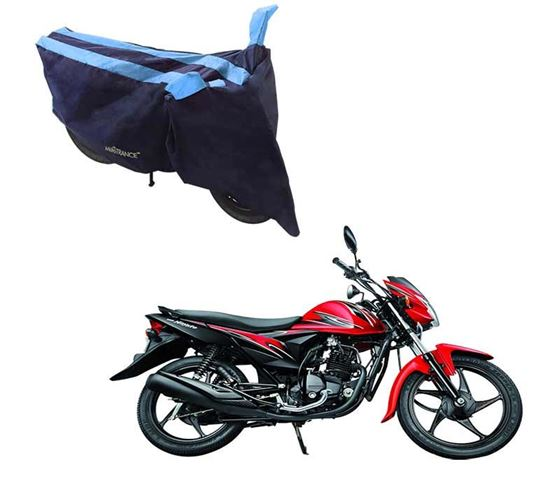 Picture of Sporty Arc Blue Aqua Two Wheeler Cover For Suzuki Hayate EP