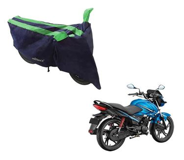 Picture of Sporty Arc Blue Green Two Wheeler Cover For Hero Glamour Fi