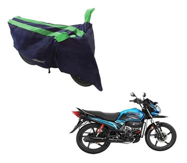 Picture of Sporty Arc Blue Green Two Wheeler Cover For Hero Passion Pro TR