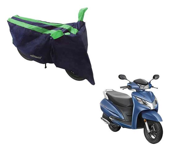 Picture of Sporty Arc Blue Green Two Wheeler Cover For Honda Activa 125