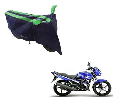 Picture of Sporty Arc Blue Green Two Wheeler Cover For Yamaha Gladiator RS